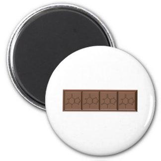 Chocolate Molecule 6 Cm Round Magnet