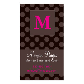 Chocolate Mommy Card Business Card Template