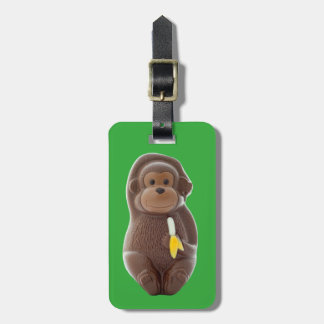 Chocolate Monkey Luggage Tag