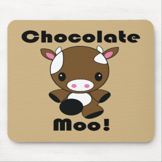 Chocolate Moo Kawaii Cow mouse pad