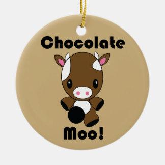 Chocolate Moo Kawaii Cow ornament