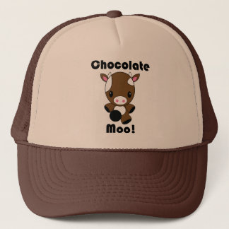 Chocolate Moo Kawaii Cow Trucker Hat
