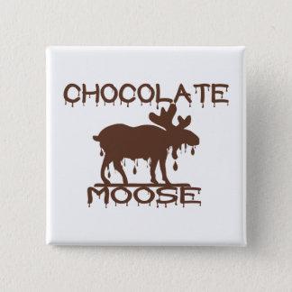 Chocolate Moose 15 Cm Square Badge