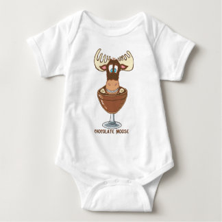Chocolate  Moose Baby Bodysuit