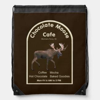 Chocolate Moose Cafe Drawstring Backpacks