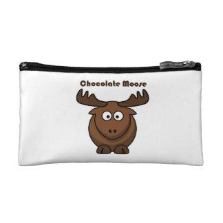 Chocolate Moose Cartoon Makeup Bags