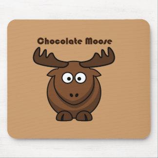 Chocolate Moose Cartoon Mouse Mat