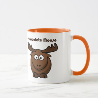 Chocolate Moose Cartoon Mug