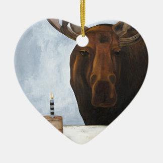 Chocolate Moose Christmas Ornament