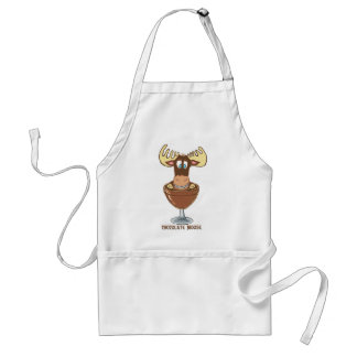 Chocolate  Moose Standard Apron