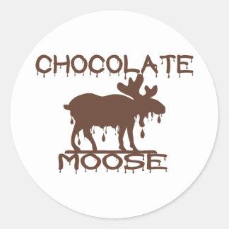 Chocolate Moose Classic Round Sticker