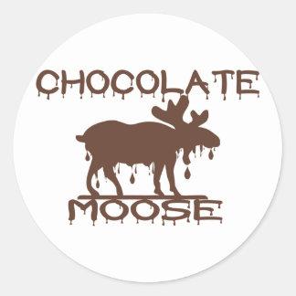 Chocolate Moose Round Stickers