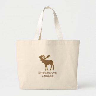 chocolate moose jumbo tote bag