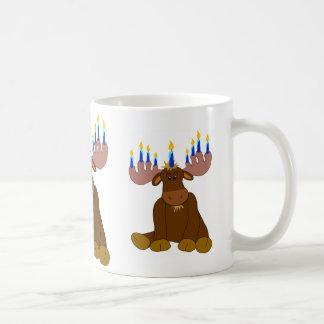 Chocolate Moose with Candles Coffee Mug