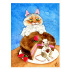 Chocolate Mouse Cake Postcard