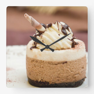 Chocolate Mousse Cake Wall Clock