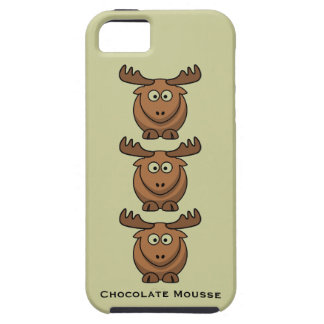 Chocolate Mousse Funny Catroon Moose Elk Animal iPhone 5 Case