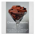 Chocolate Mrtini Posters