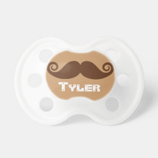 Chocolate Mustache Baby Pacifier