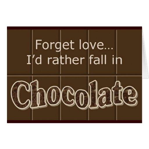 Chocolate notecard greeting cards