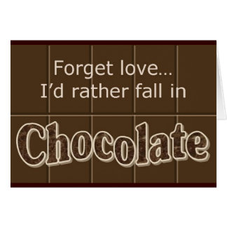 Chocolate notecard note card
