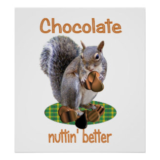 Chocolate Nut Print