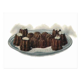 Chocolate Nut Pudding Vintage Dessert Post Card
