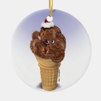Chocolate Octopus Ice Cream Christmas Ornament