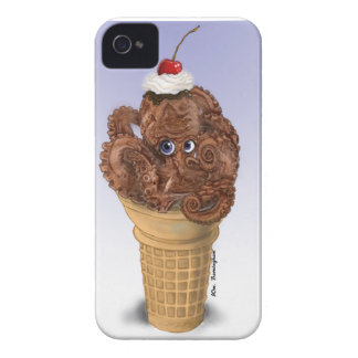 Chocolate Octopus Ice Cream iPhone 4 Covers