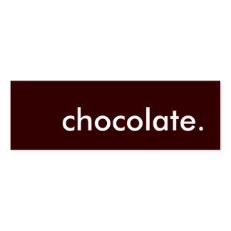 chocolate. pack of skinny business cards