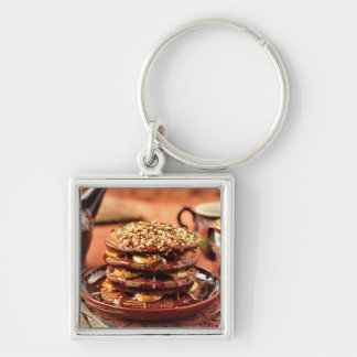 Chocolate Pancakes with Bananas and Caramel Key Ring