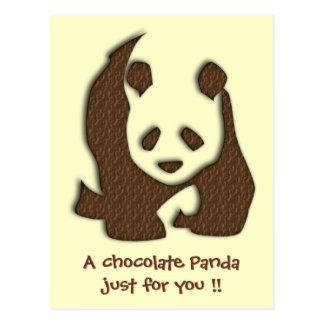 Chocolate Panda postcard
