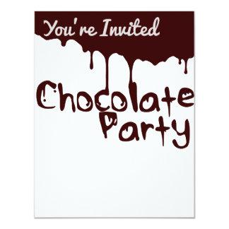 Chocolate Party Invitation