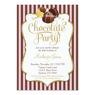 Chocolate Party Invitation Birthday Dessert