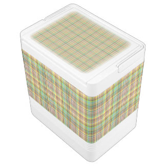 Chocolate Pastels Plaid 2-24 Can Igloo Cooler