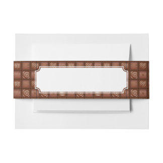 Chocolate Pattern Invitation Belly Band