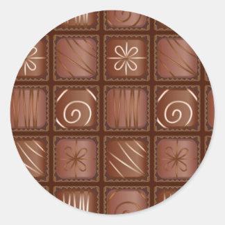 Chocolate Pattern Round Sticker