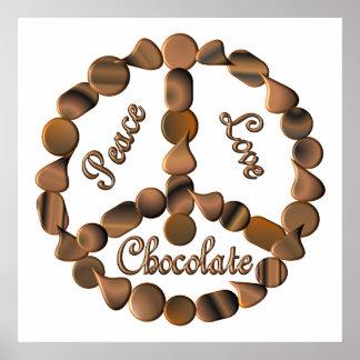 Chocolate Peace Sign