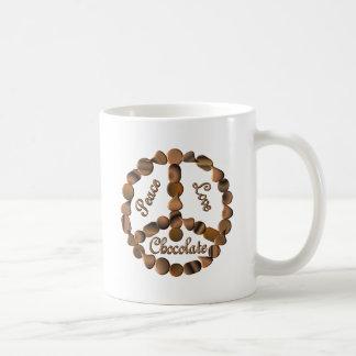 Chocolate Peace Sign Coffee Mugs