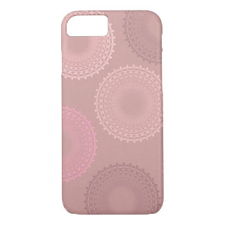 Chocolate Peach Champagne Lace Doily iPhone 7 Case
