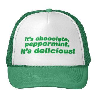 chocolate, peppermint, delicious cap