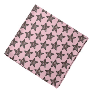 Chocolate Peppermint Star Christmas Holiday Cookie Bandana