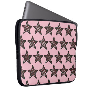 Chocolate Peppermint Star Christmas Holiday Cookie Laptop Sleeve