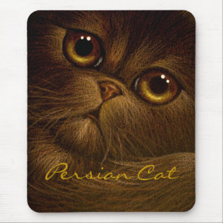 CHOCOLATE PERSIAN CAT Mousepad