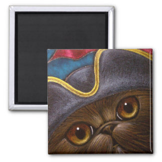 CHOCOLATE PERSIAN CAT PIRATE Magnet