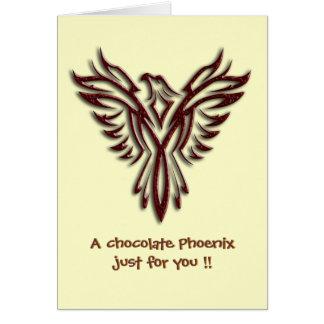 Chocolate Phoenix blank notelet / card