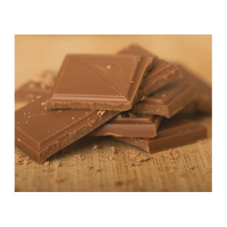 Chocolate pieces wood canvas