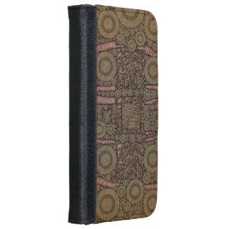 Chocolate Pink Zebra Leopard iPhone 6 Wallet Case