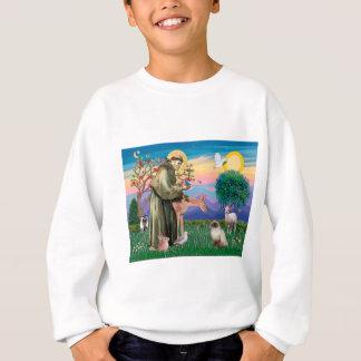 Chocolate Point Himalayan Cat  - St Francis Sweatshirt