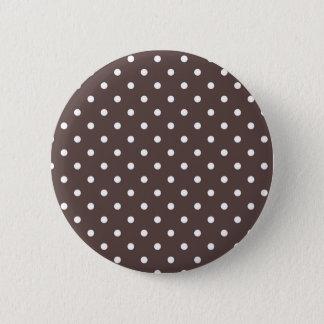 Chocolate Polka Dot Button